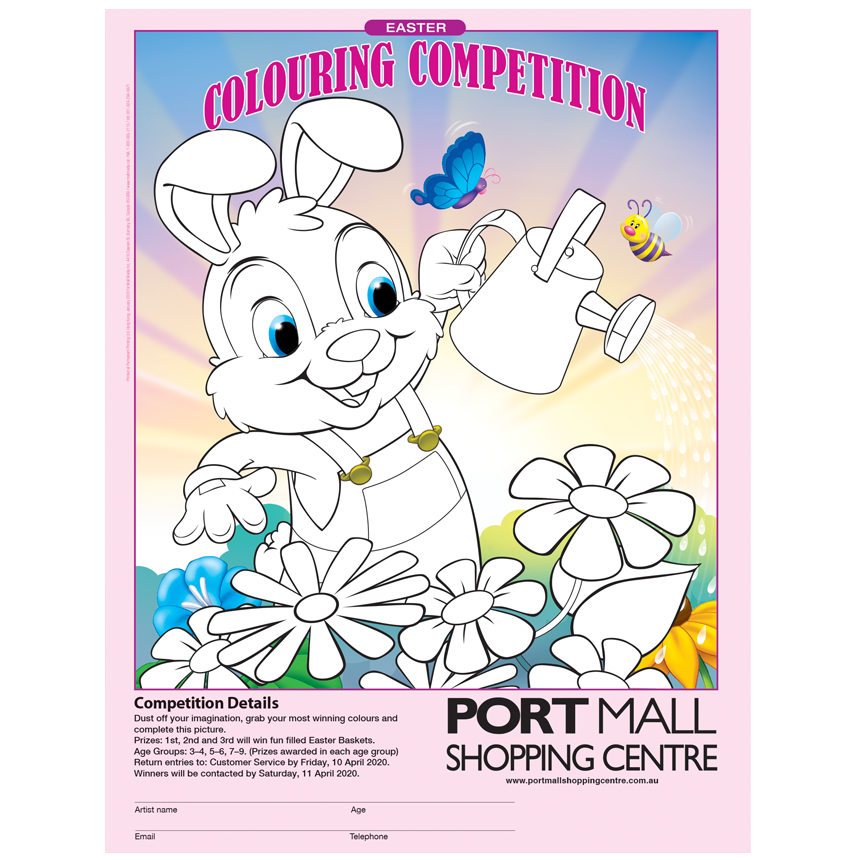 Mall Media Kids Australia Colouring Competition Posters